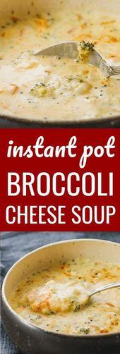 Diese Instant-Brokkoli-Käsesuppe ist eine meiner liebsten vegetarischen …