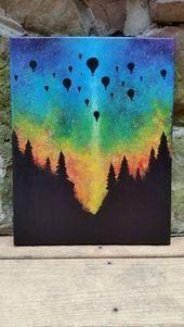 Waldregenbogen-Aurora-Heißluftballon von TheMindBlossom