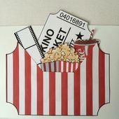 Kinogutschein DIY – alles als Vorlage ausdrucken, ausschneiden, auf Karton kleben und fertig :-)