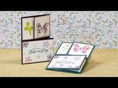 Tutorial: Spezielle Dreifachfaltkarte – Faltkarte mit Stampin & # 39; Oben! – Youtube   – Geschenke