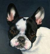 Custom Pet Portrait – painting, dog art, dog portrait, bulldog art