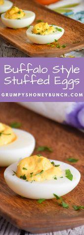 Buffalo-Style Stuffed Eggs