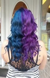 I Used To Have Something Like This Except It Was Black And Purple I Miss It Fashionaccessories Fashioninfluencer Split Dyed Hair Dyed Hair Hair Inspo Color