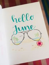 June Monthly Cover Spread | Bullet Journal BuJo | …