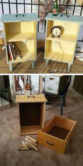 DIY-Beistelltische aus alten Schubladen #diy #furniture #makeover #repurpose #decorhome