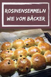 Pasas dulces y esponjosas como del panadero   – Brot, Brötchen (Semmeln) & Co.