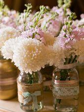 Blumen für die Hochzeit: Tischdeko im Glas – hochzeit