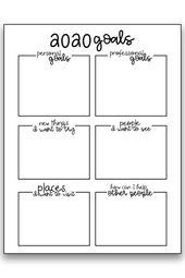 Goal Setting Worksheets – 3 Free Goal Planner Printables