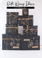 Verpacken Sie Geschenke wunderschön mit Kraftpapier   – DIY – Weihnachten