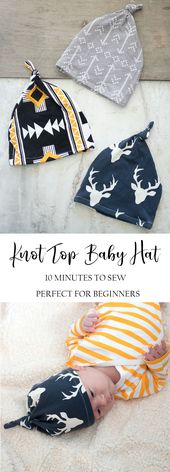 How to Sew an Easy Baby Hat (10 Minutes!)