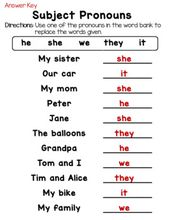 Private Pronouns: Topic and Object Pronouns Worksheets