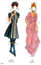 1899 Dickins & Jones Badebekleidung & 1900 Paquin Dinner Gown