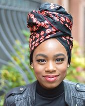 Turbans for natural hair, turban, style ideas and inspiration, make up look, bla...