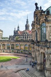 Dresden Castle Or Royal Palace Dresden Germany Is Known For The Different Architectural Styles Employed From Baroque Places To Travel Castle Dresden Castle