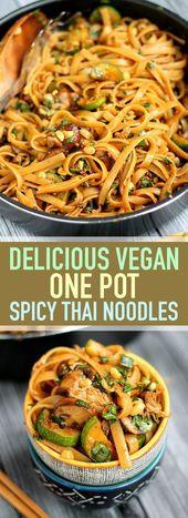 Delicious Vegan One Pot Würzige Thai Nudeln   Die…