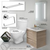 Bathroom Vanity Set Includes Toto Cst416m 01 Toilet 24 Royo