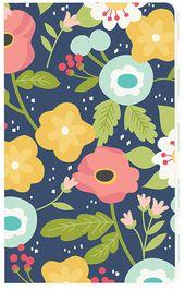 Carpe Diem Faith Navy Floral Doc It Journal   – Products