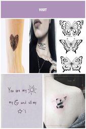 Satz von zweimal die Zeichnung eines Herzens. Größe ca .: 3,5×3 cm. Tattoorar …   – decoration-appartement