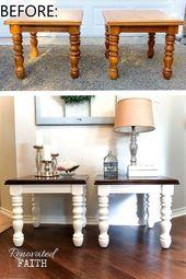 Vor und nach der Renovierung von Heimwerkermöbeln – Meine bisher beste Transformation