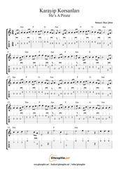 Pirates Of The Caribbean Musical Note Tab Gitaregitim Net Notalara Dokulmus Muzik Muzik Notalari Muzik