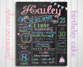 Erste Geburtstagstafel – Meilenstein angepasst Geburtstag Poster druckbare Datei – Hailey – Babys erster Geburtstag – junge oder Mädchen   – Products