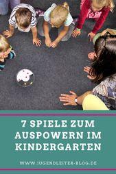 7 Spiele zum Auspowern im Kindergarten