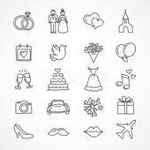 Vector wedding icons, bride, groom, couple, love, marriage – #bride #Bruiloftdiy…