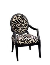 Furniture Of America Marty Zebra Print Padded Fabric Arm Chair