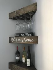 Rustic wood wine rack, Wine rack, corner wine rack…
