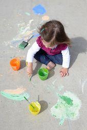 DIY Sidewalk Chalk Paint – The Artful Year – Kid crafts