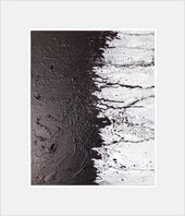 Large Abstract Black White Textured Original Canvas