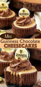 Mini Guinness Schokoladen Käsekuchen ~ Rezept | Queenslee Appetit #schokolade ….