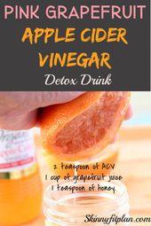7 Apfelessig Detox Drink Rezepte für Weight Loss   – Apple cider vinegar detox drink