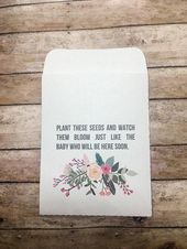 Baby Shower Favors Gifts Seed Packets Baby in Bloom Floral Handmade Personalized Envelopes Flower Custom, Baby Shower Gifts, Pink Girl – grimm baby moon shower