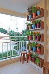 # happy #style Auf der Suche nach kleinen Designideen für den Balkon? #foll …- #happy #styl… – Balkon Deko