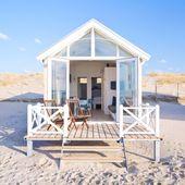 Cet été, on va dormir dans une petite maison en boissur la plage haguenoise …