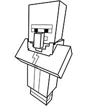 Villager Minecraft Coloring Pages Coloring Pages Cool Coloring Pages