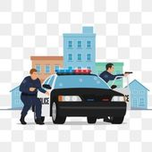 Police Officer Open Fire On Car Police Shootout Policeman Police Shooting Png And Vector With Transparent Background For Free Download Car Cop Fire Icons City Vector
