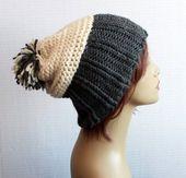 Winter Wool Hats Slouchy Hat Mens Hat Women Hat Pom Pom Hat winter accessory, chunky slouch hat in Wool Great Gift – fashion