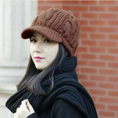 New Arrival Peaked Cap Women Hat Winter Caps Knitted Hats For Woman Lady's Headwear Cloth Accessory – Кепка