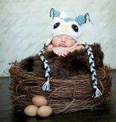 Hölzernes Niederlassungs-Nest-Eulen-Nest-Vogelnest neugeboren von BeautifulPhotoProps   – Cuteness Overload