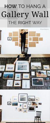 Wir sind immer auf der Suche nach günstigen und einfachen DIY Wanddekor-Ideen. Eine DIY Galerie – Küchen Deko Ideen