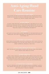 Anti-Aging-Hautpflege für Ihre Hände – #aging # Anti-Aging-Hautpflege # for #hand … – Hautpflege Routine