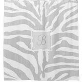 Zebradruck | Monogramm Duschvorhang | Grau | Zazzle   – Home Improvement