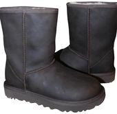 UGG Australia | Ugg Brown Classic Short Leather Water Resistant Shearling Li