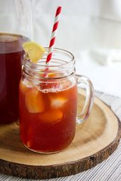 Strawberry Iced Tea. Delicious and refreshing summer drink. Nonalcoholic kid fri…  – Drink