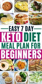 Ketogenic Diet Meal Plan 1200 Calories #KetogenicDiet7DayMealPlan