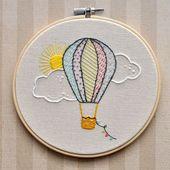 Heißluftballon Stickrahmen Wand by LittleLDesigns…