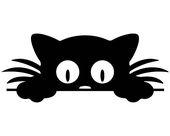 Peeking Cat SVG, Katze Clipart, Katzenartige SVG, Hauskatze, Becher Aufkleber, Lichtschalter, Haustier, Kitty Cat, Fahrzeug Aufkleber, Instant Download