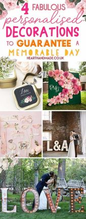 4 Personalised Wedding Decorations to Guarantee A Memorable Party